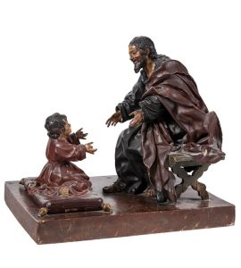 233 San José con el Niño talla de madera policromada, trabajo andaluz del S.XVIII.00