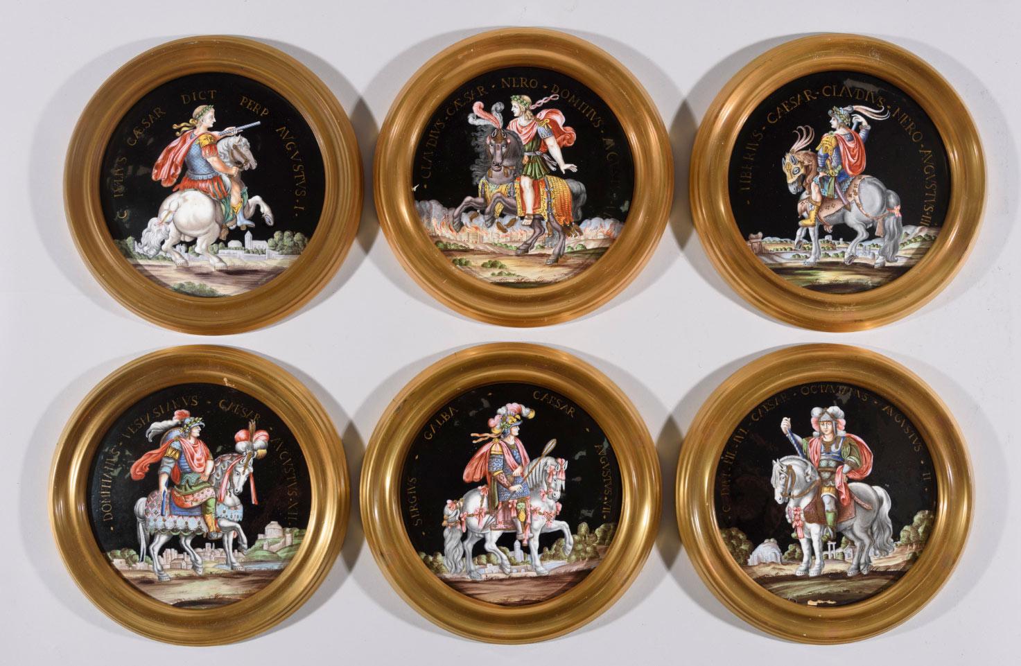 948-Doce-tondos-en-esmalte-de-Limoges,-1820-1830.-En-porcelana-esmaltada,-representando-a-doce-emperadores-romanos.01