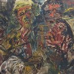 Affandi. Before the cockfight, 1963. Salida: 100.000 euros. Remate: 130.000 euros