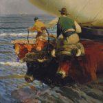 Enrique Martínez Cubells. Sacando las barcas. Valencia. Salida y remate: 65.000 euros