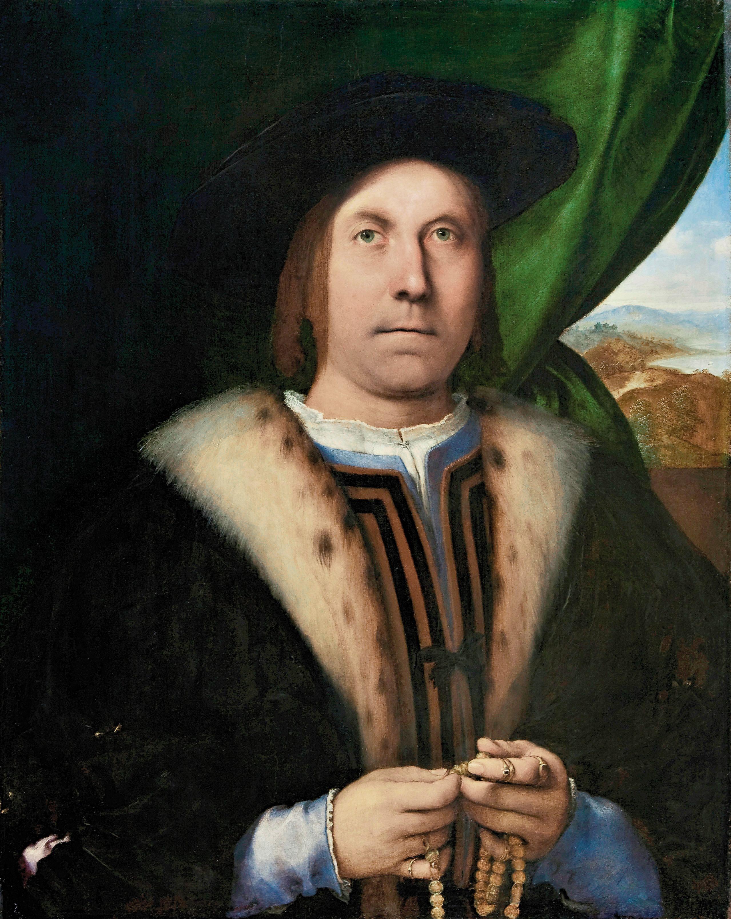 Lorenzo Lotto, Mandsportræt, ca. 1520