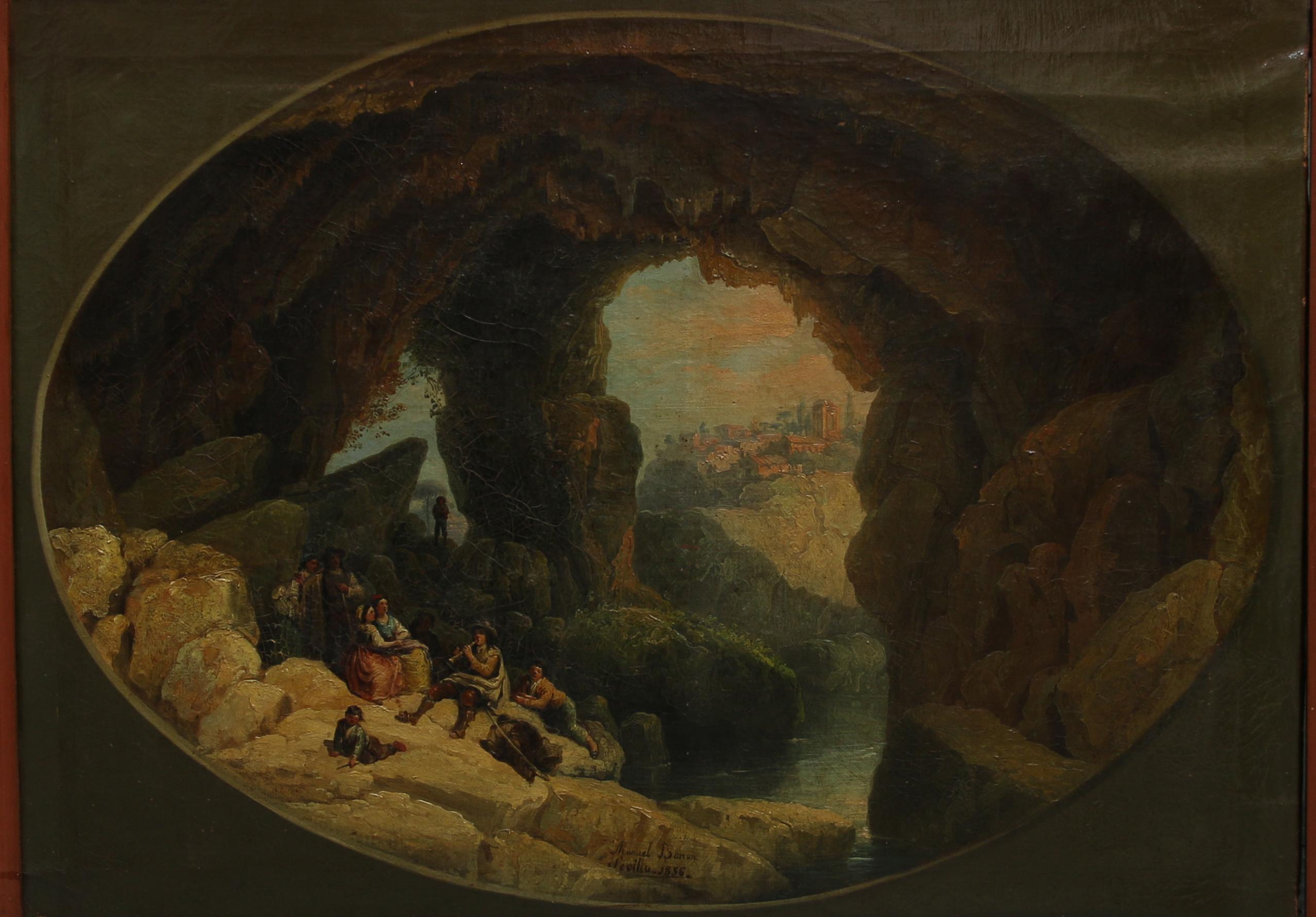 Manuel Barrón. La cueva del Gato, 1856. Salida: 14.000 euros