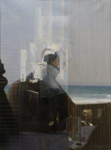UN LAPSO DE ENSUEÑO (Miguel Angel). 2013Óleo sobre lienzo. 73,5x54cm