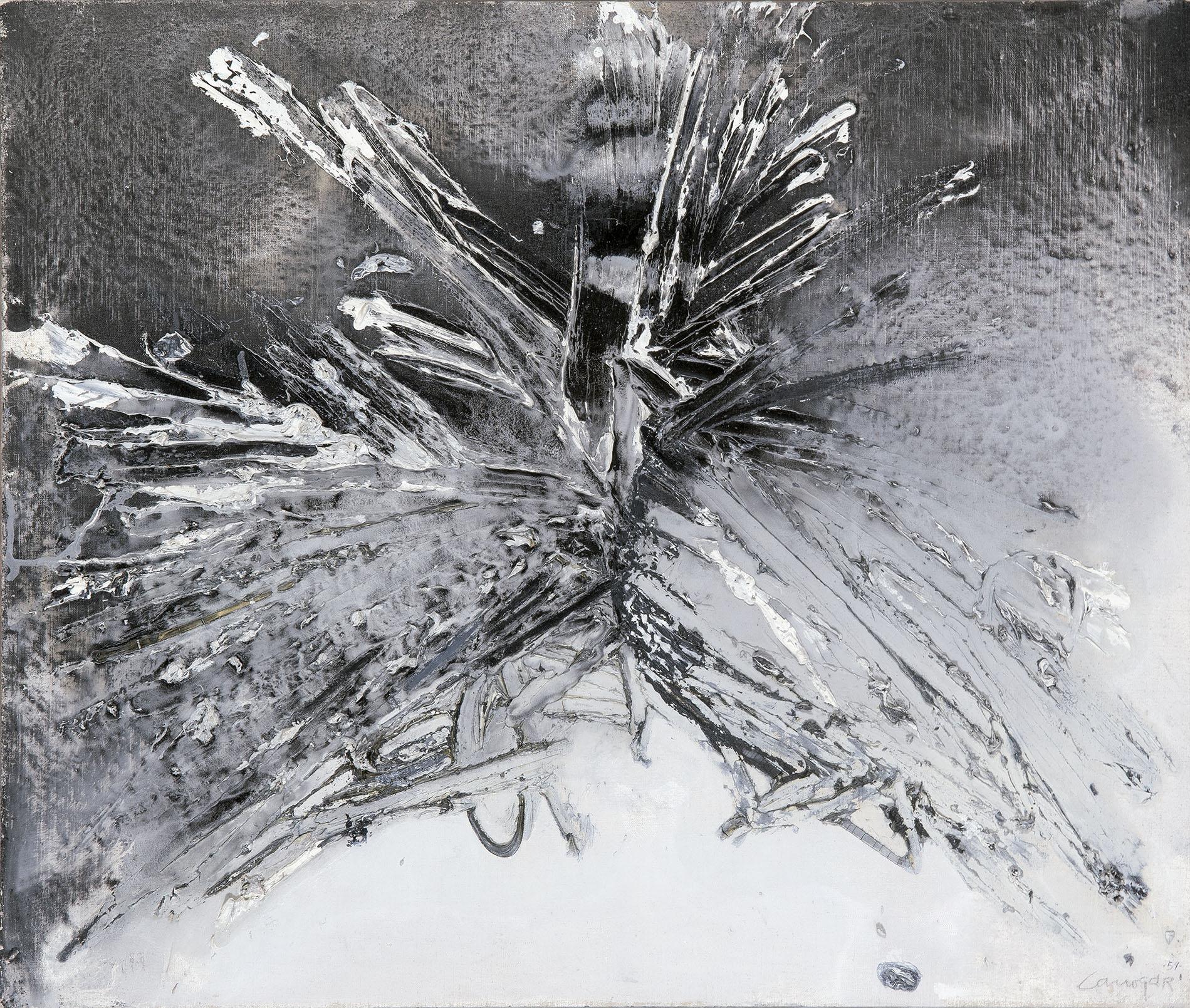 Rafael Canogar. Pintura, 1959. Salida: 15.000 euros. Remate: 20.000 euros