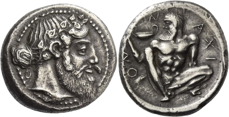 Tetradracma de Naxos. Rematado en 240.000 francos suizos. Numismatica Ars Classica