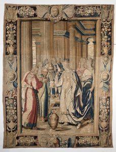 286 Visita de la Reina de Saba al rey Salomón, escuela francesa s. XVII-XVIII.00