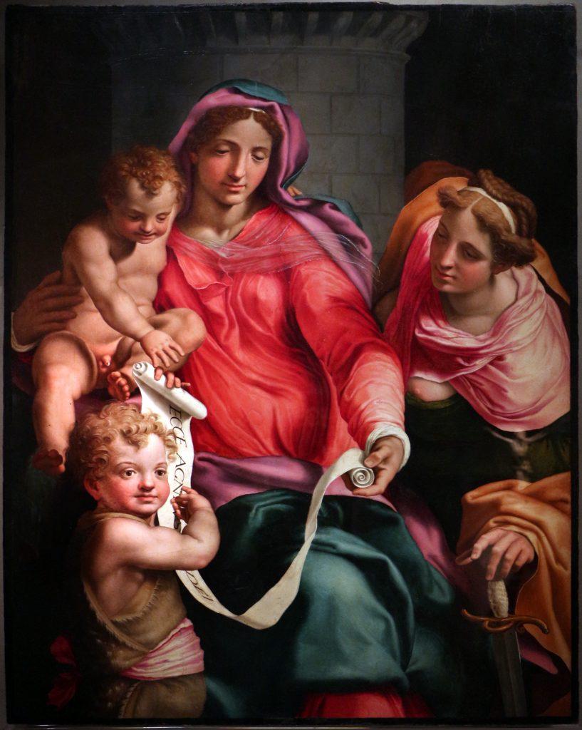 Daniele_da_volterra,_madonna_col_bambino,_san_giovannino_e_santa_barbara,_1545-50_ca