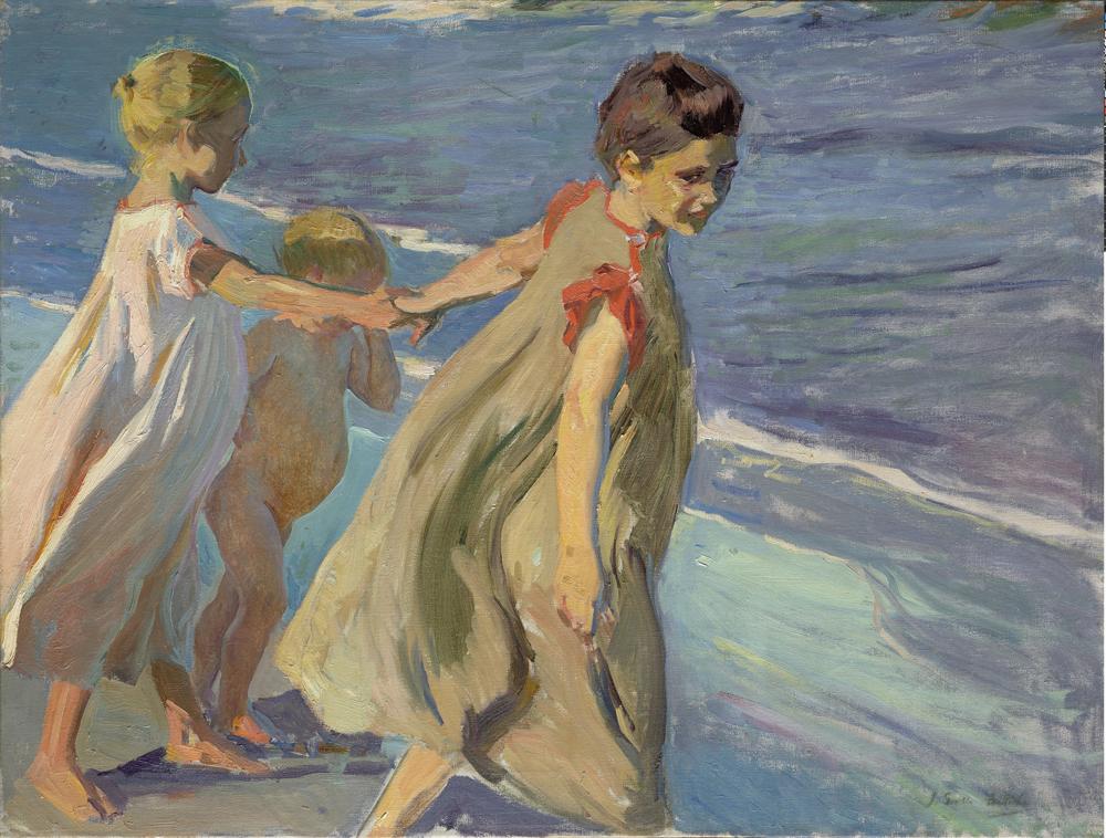 Sorolla Niños en la playa Fundación María Cristina Masaveu Peterson