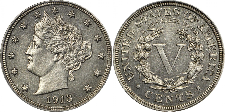 5 centavos 1913. Rematado en 4.560.000$. StacksandBowers.