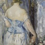 Édouard Manet, Before the Mirror (Devant la glace), Oil on canvas, 36 1/4 x 28 1/8 inches (92.1 x 71.4 cm)