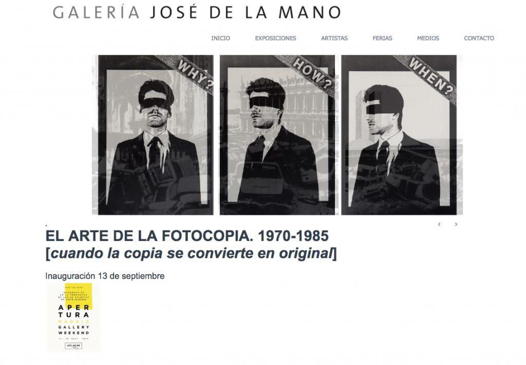 GALERIA JOSE DE LA MANO