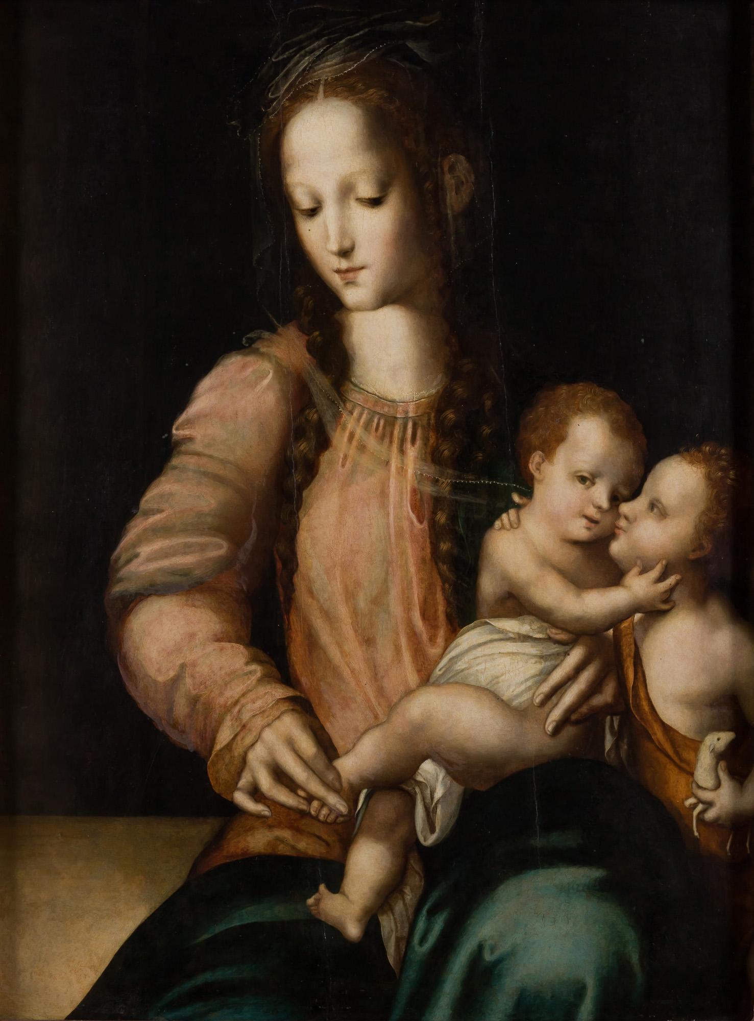 Luis de Morales. Virgen con Niño y san Juanito, hacia 1555. Salida: 200.000 euros