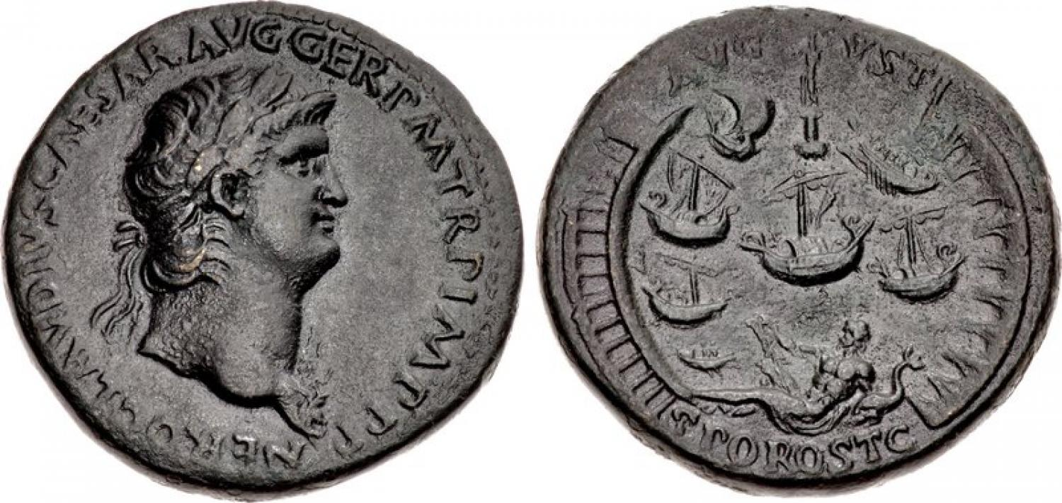 Sestercio de Nerón. Estimado en 10.000$. Classical Numismatic Group