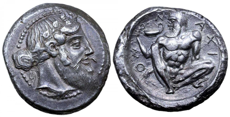 Tetradracma de Naxos. Estimado en 80.000libras. Roma Numismatics