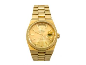 57 Reloj ROLEX OYSTERQUARTZ DAYDATE de oro para caballero. Movimiento de cuarzo. 00