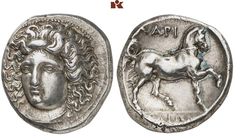 Didracama de Larissa, Thessalia. Rematado en 11.000 euro. Fritz Rudolf Kuenker