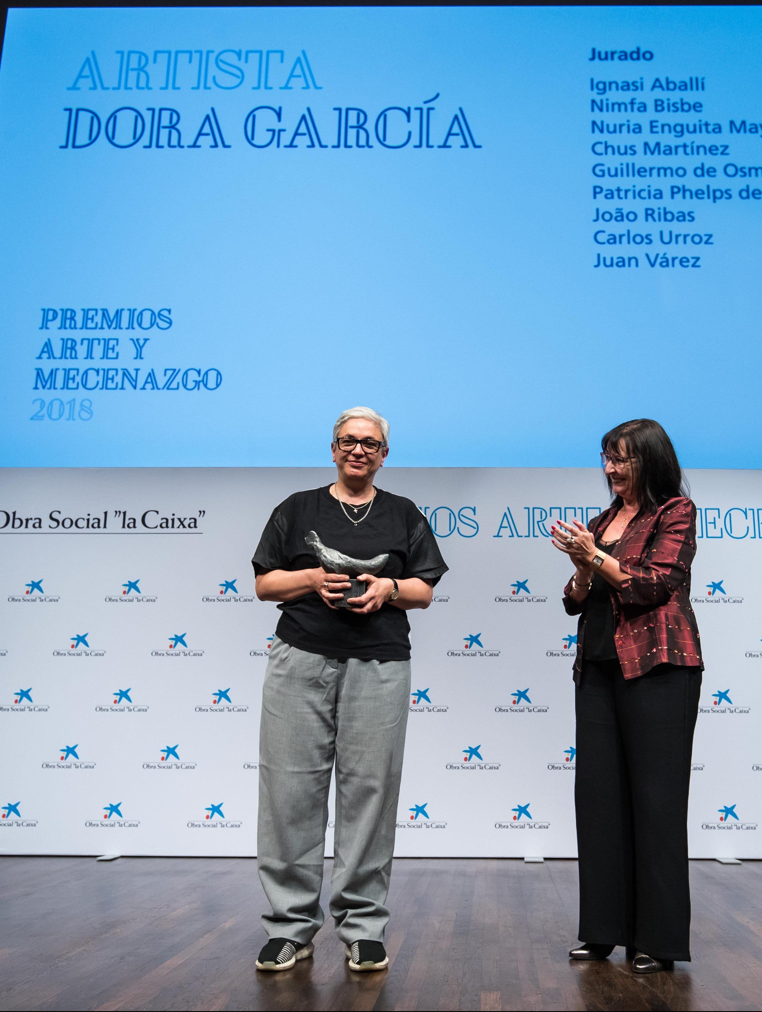 Entrega Premios Arte y Mecenazgo 2018 a Dora García – OS la Caixa