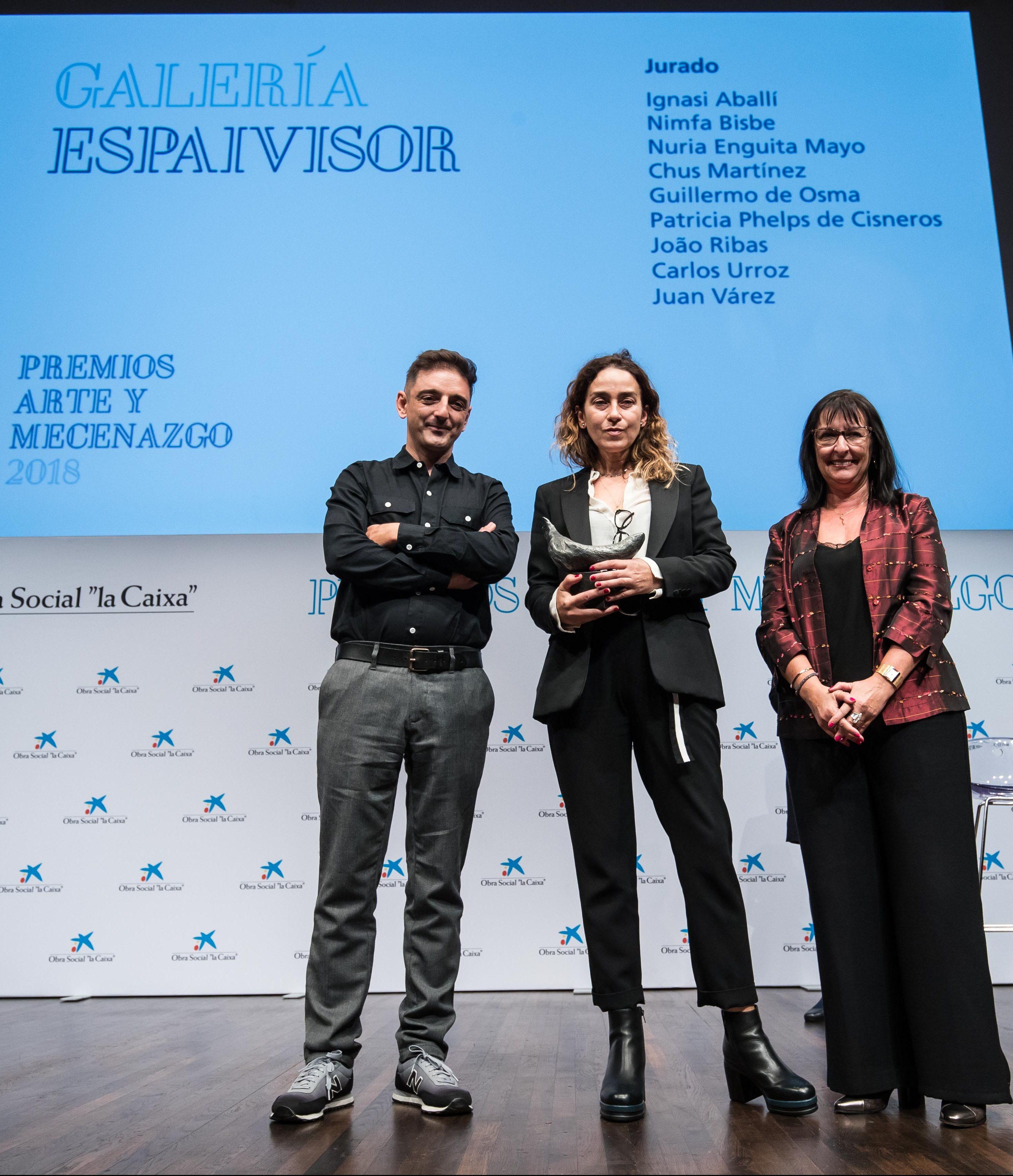 Entrega Premios Arte y Mecenazgo 2018 a Galaería EspaiVisor – OS la Caix…