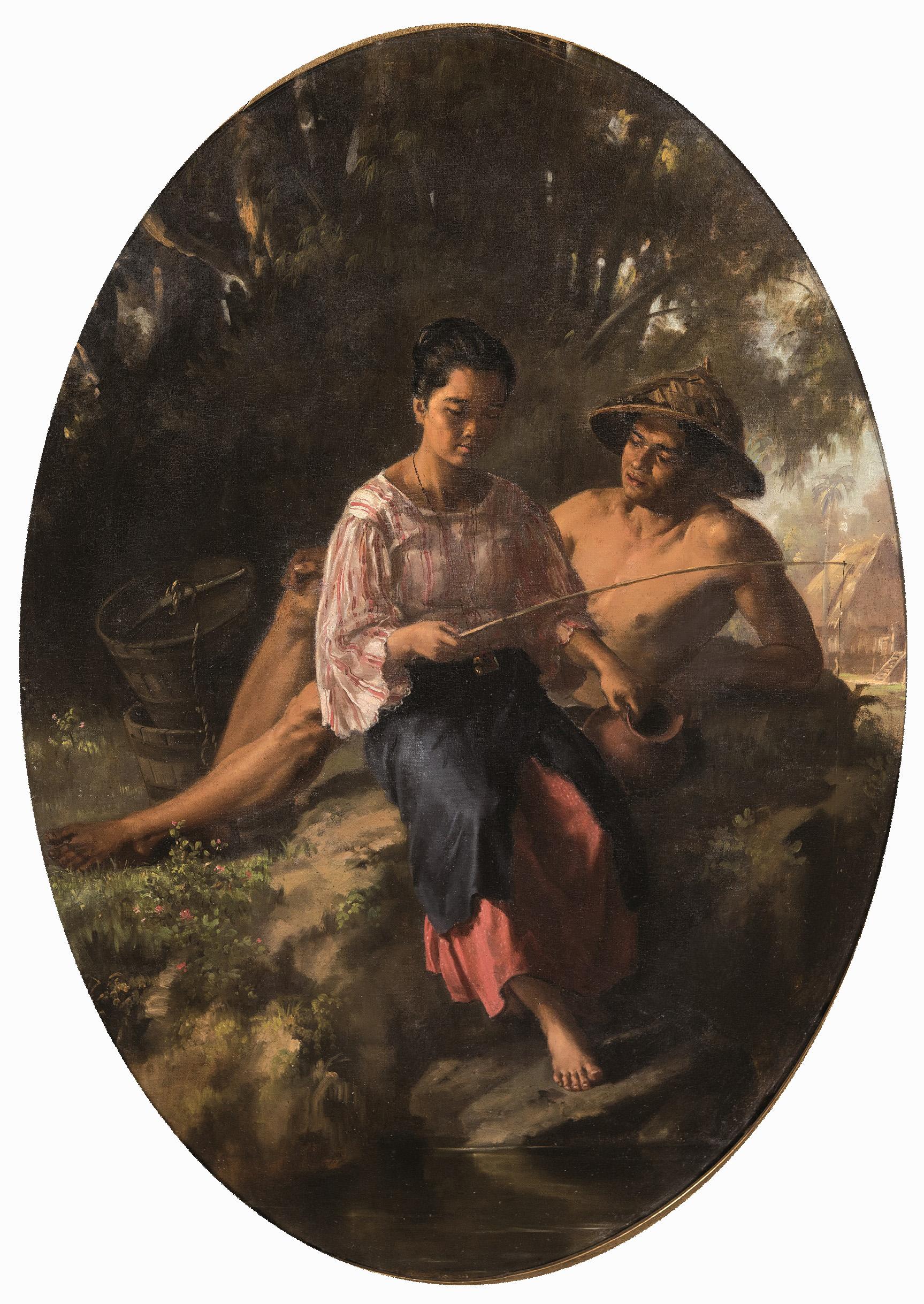 Félix Resurrección Hidalgo. Pareja de jovenes tagalos, 1879. Salida: 40.000 euros. Remate: 950.000 euros