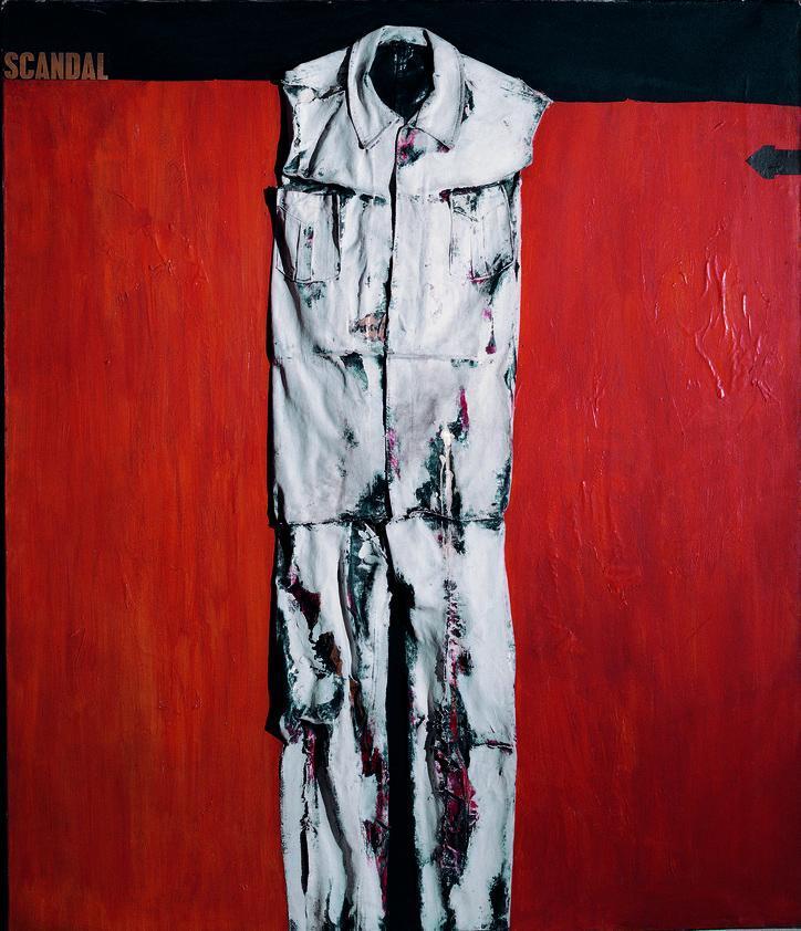 COLECCION HOCHSCHILD-Jorge Eduardo Eielson-Agonia Scandal,-1963, 130×100 cm