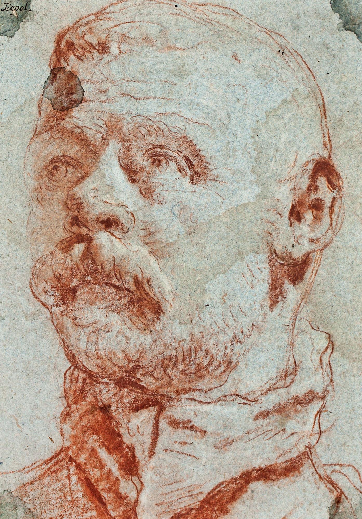 Giovanni Battista Tiépolo. Estudio del busto del pintor Jacopo Palme, Il giovane. Salida: 40.000 euros. Remate: 100.000 euros