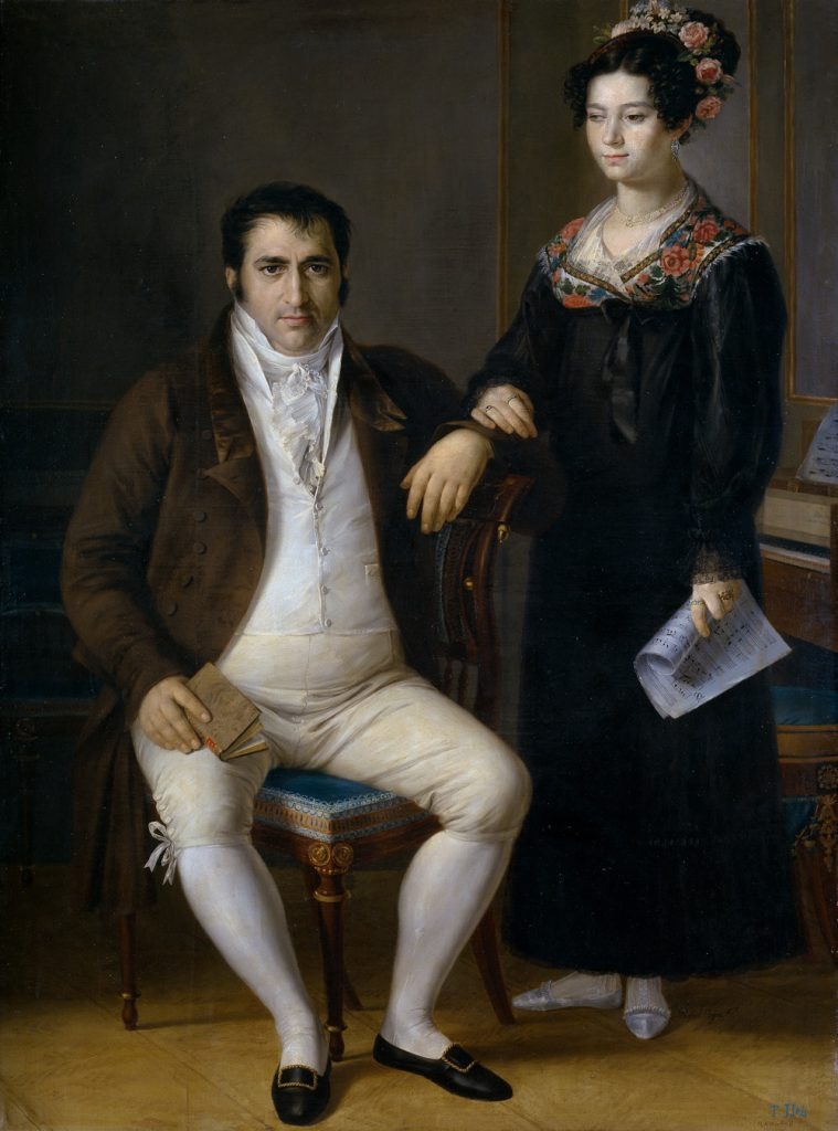 Pedro Benitez y su hija Maria de la Cruz