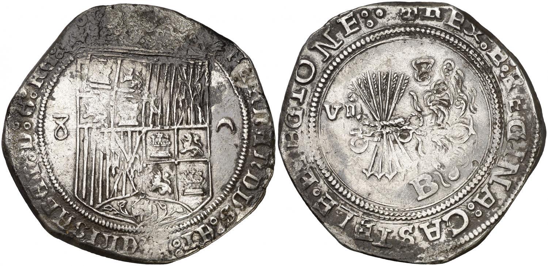 8 reales de Burgos. Reyes Católicos. Salida 18.000 euro. AureoCalico