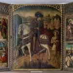 Anónimo español, fines siglo XV. Tríptico de San Martín de Tours con otras escenas. Salida y remate: 90.000 euros
