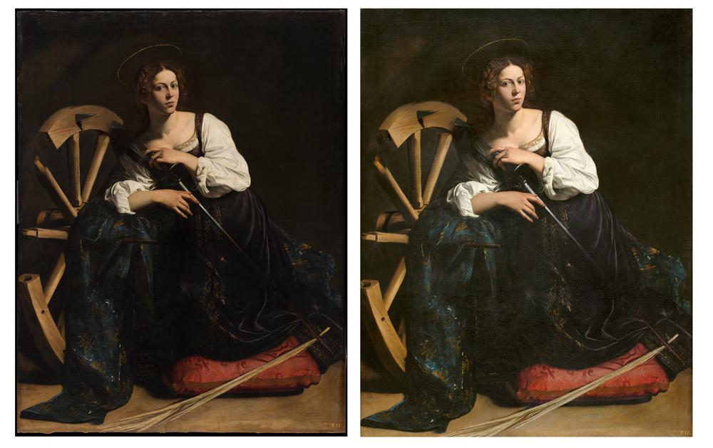 Caravaggio thyssen antes y despues