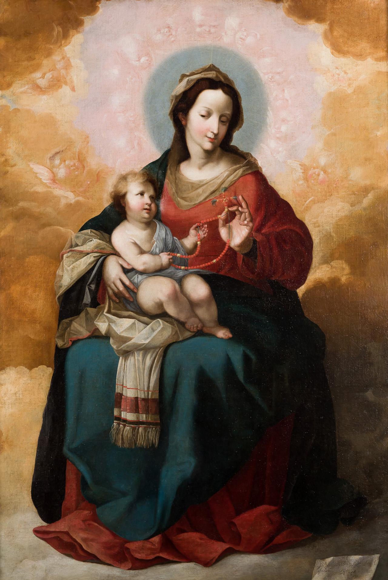 Sebastián Llanos Valdés. Virgen del Rosario. Salida: 45.000 euros