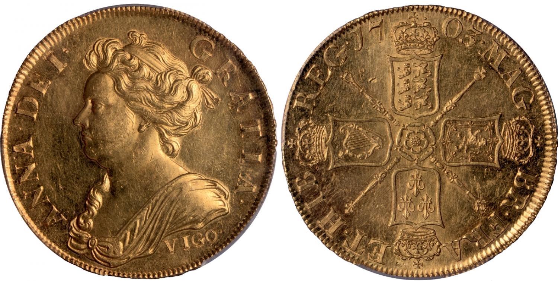 5-guineas-de-ana-de-inglaterra-vigo-vendido-en-900.000-usd.-st.-james-auctions
