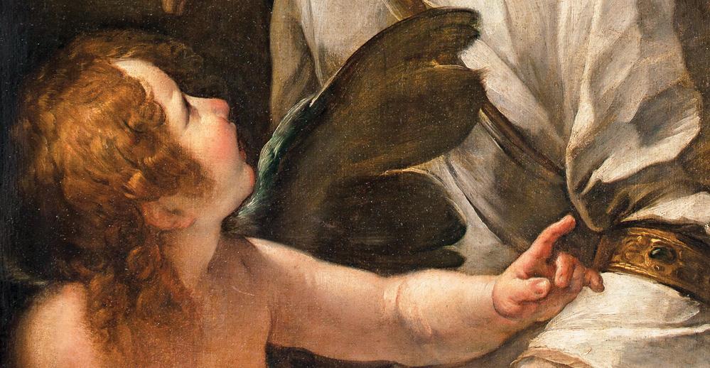 Giulio Cesare Procaccini. Alegoría con Cupido, detalle. Salida: 5.000 euros. Remate: 1.000.000 euros