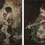 Ignacio Pinazo. Muchacho con serpiente y naranjas, 1884 y Muchacha valenciana en Domingo de Ramos, 1889. Salida: 12.000 euros cada uno. Remate: 13.000 y 22.000 euros, respectivamente