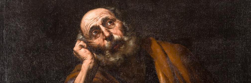 José de Ribera. San Pedro meditando, detalle. Salida y remate: 150.000 euros