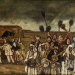 José Gutiérrez Solana. Máscaras de las escobas, c. 1935. Salida: 90.000 euros. Remate: 110.000 euros