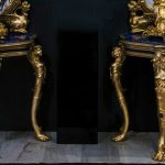 Una pareja de consolas en bronce y lapislázuli sobresalen en la subasta de Fernando Durán