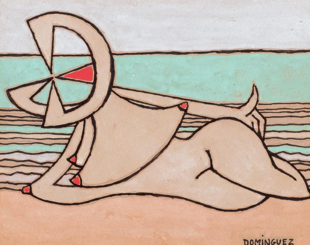 Óscar Domínguez. Femme allongée, 1948/50. Salida y remate: 15.000 euros