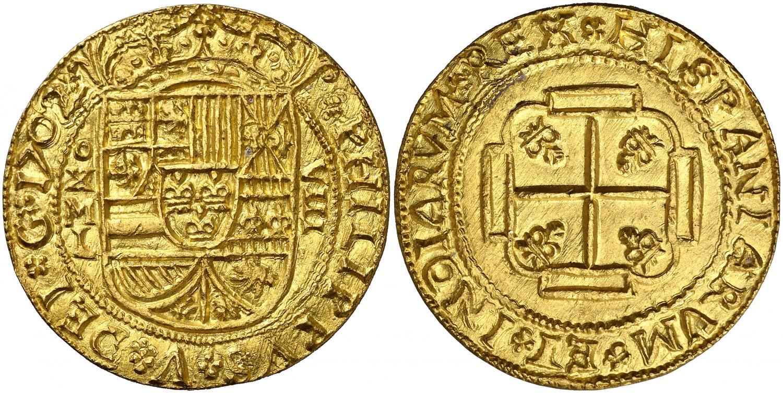 8-escudos-redondo-de-1702-de-mjico.-rematado-en-232.000-euro.-aureocalico