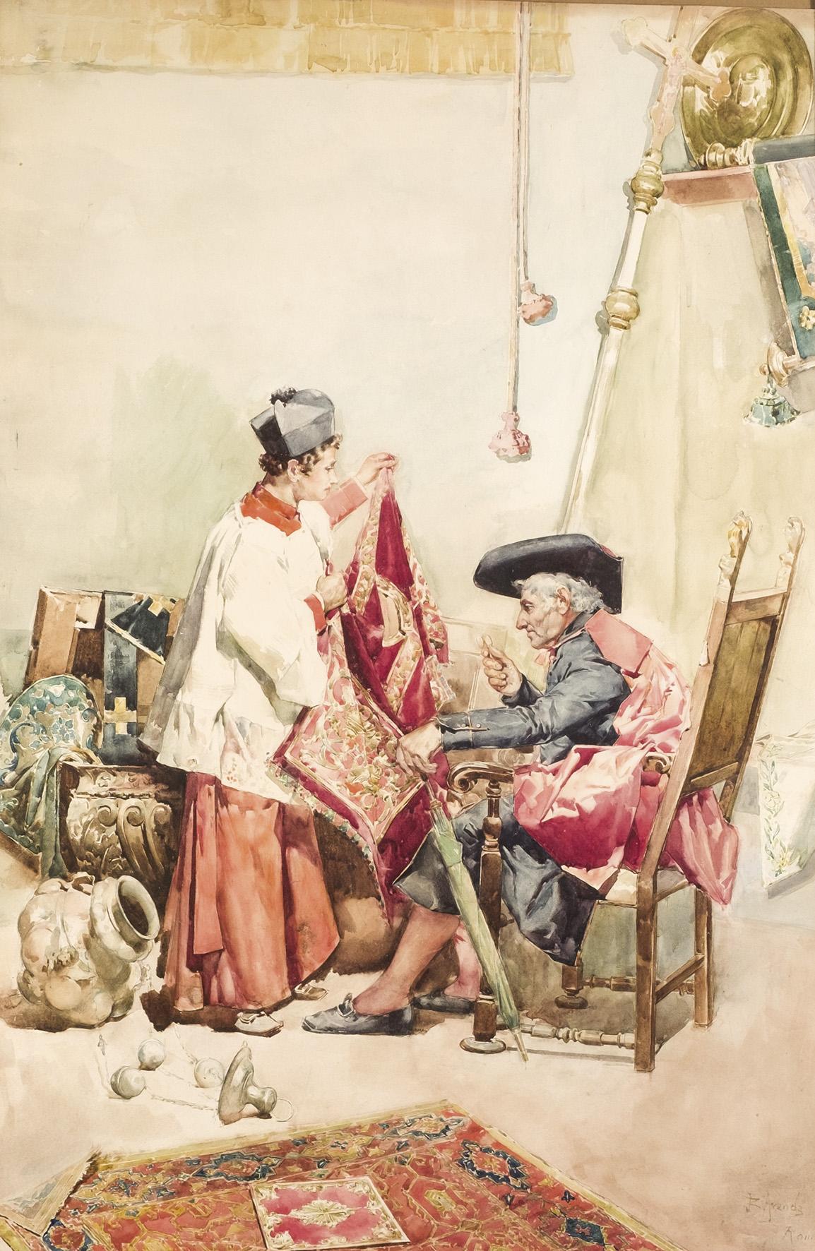 José Jiménez Aranda. El comprador de paños. Salida: 4.500 euros. Remate: 5.500 euros