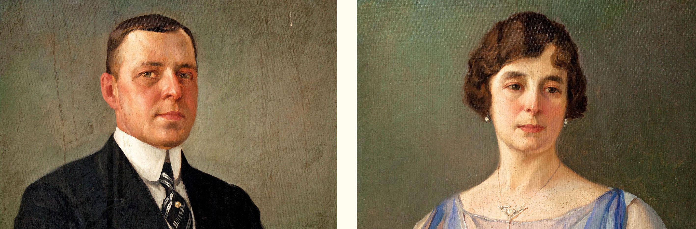 Fernando Amorsolo. Retratos de Fernando Zóbel de Ayala y de su esposa, Concepción Tremoya Palet, 1919, detalle. Salida: 25.000 euros cada uno. No vendidos
