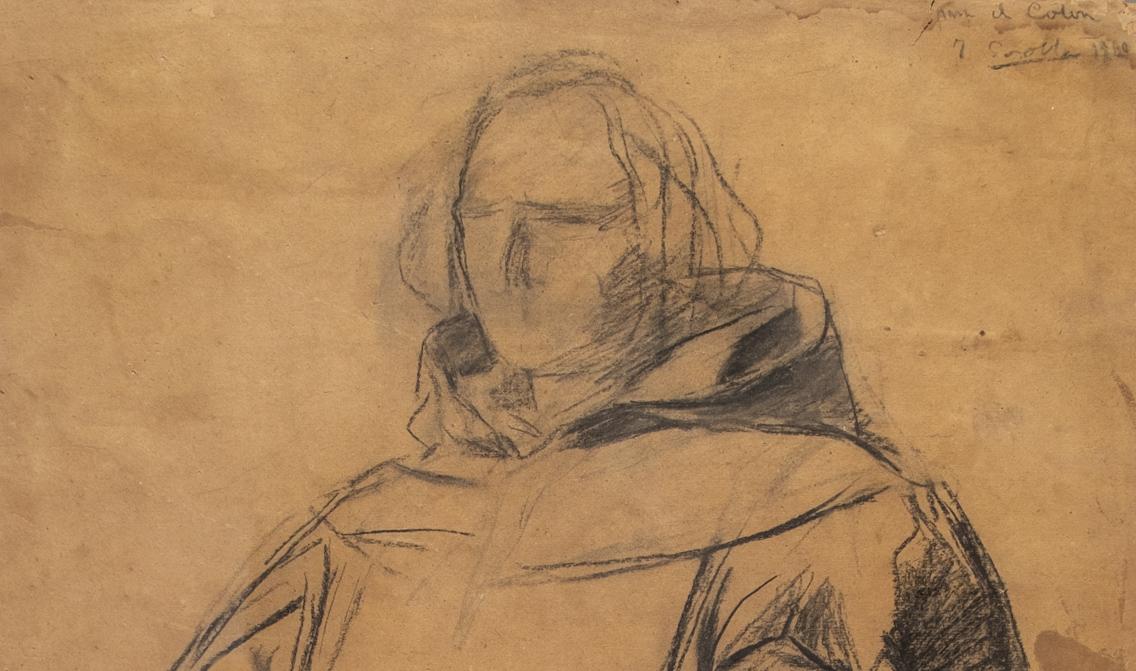 Joaquín Sorolla. Cristóbal Colón saliendo del puerto de Palos, 1910, detalle. Salida: 42.500 euros