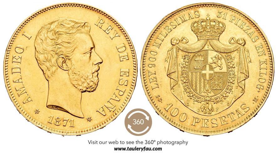 100-pesetas.-amadeo-i.-1871.-rematado-en-114.000-euro.-taulerfau-y-herrero