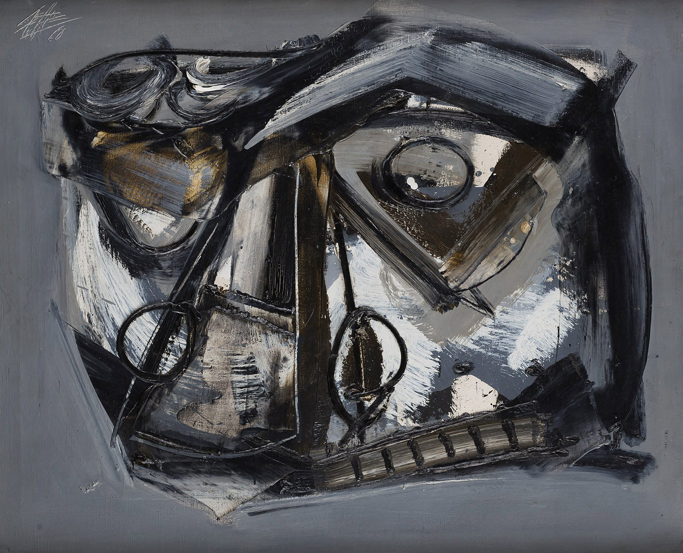 Antonio Saura. Retrato 102, 1960. Salida: 40.000 euros. Remate: 55.000 euros