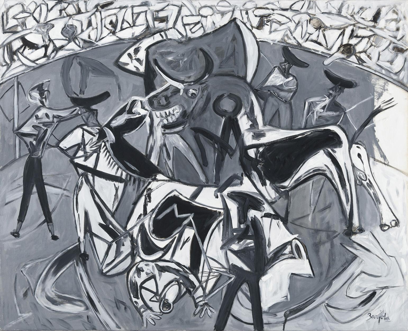 Juan Barjola. Tauromaquia, 1999. Salida y remate: 35.000 euros