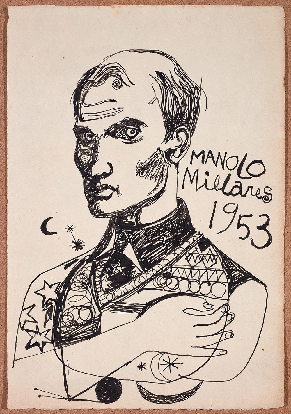 millares-autorretrato1953-millares