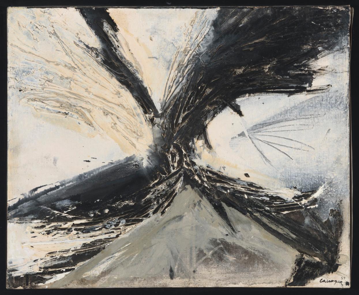 Rafael Canogar. Sin título, 1959. Salida: 15.000 euros. Remate: 17.000 euros