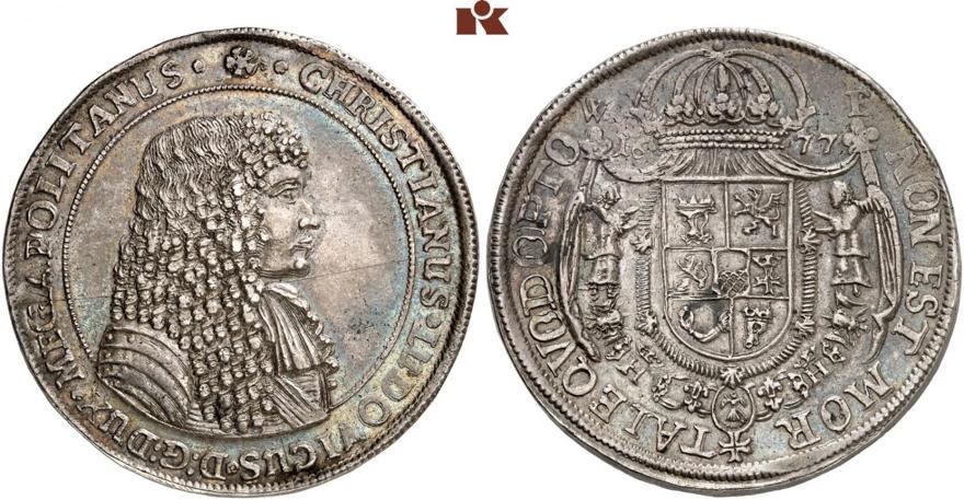 reichstaler-de-1677.-christian-i.-estimacion-30.000-euro.-kunker