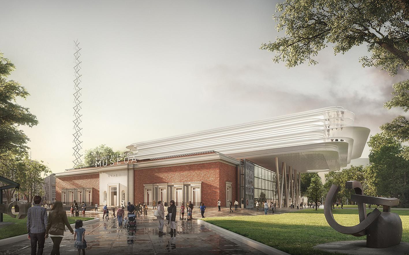 Foster y Uriarte ganan el concurso de ampliación del Museo de Bilbao
