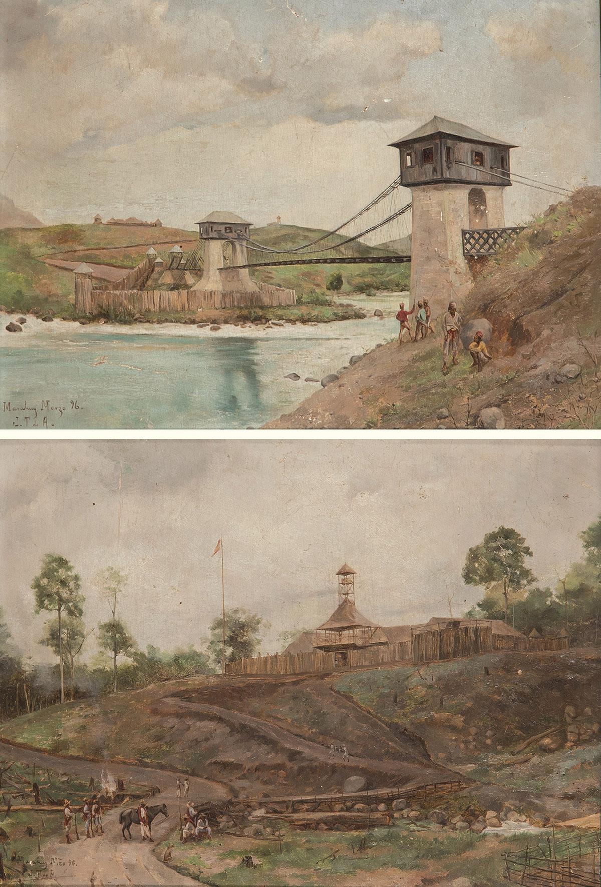 jose-taviel-de-andrade-vista-del-puente-alfonso-xiii-sobre-el-rio-agus-marawi-y-vista-del-fuerte-nuevo-de-marawi-1896
