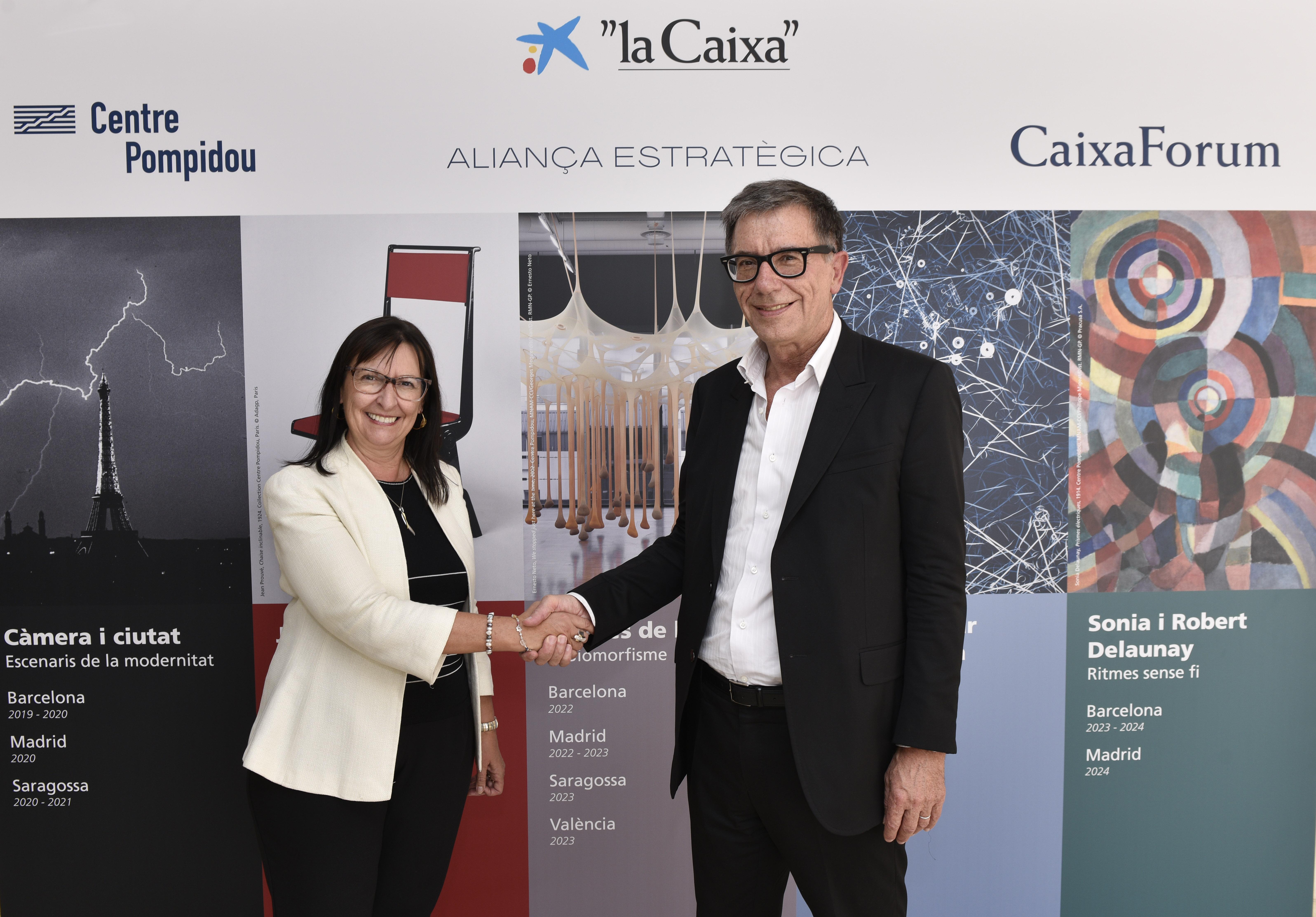 """""""La Caixa"""" y el Centre Pompidou organizarán conjuntamente seis exposiciones"""
